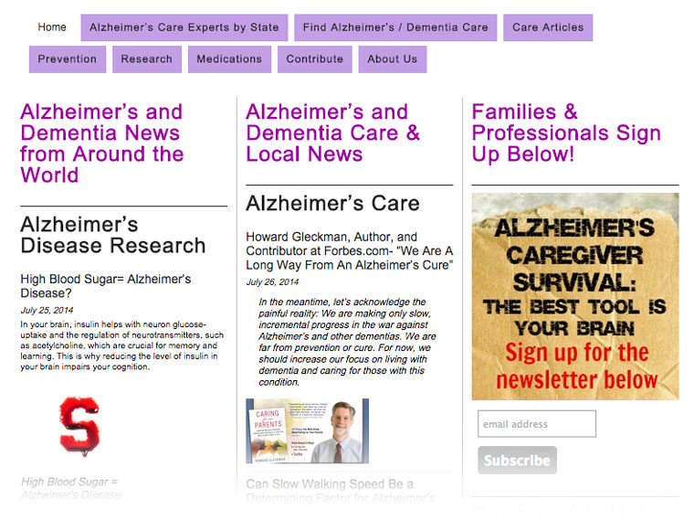 Alzheimer's and Dementia News from Around the World